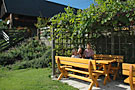 Holiday on Perhinig Farm - Sitting Area in the Garden